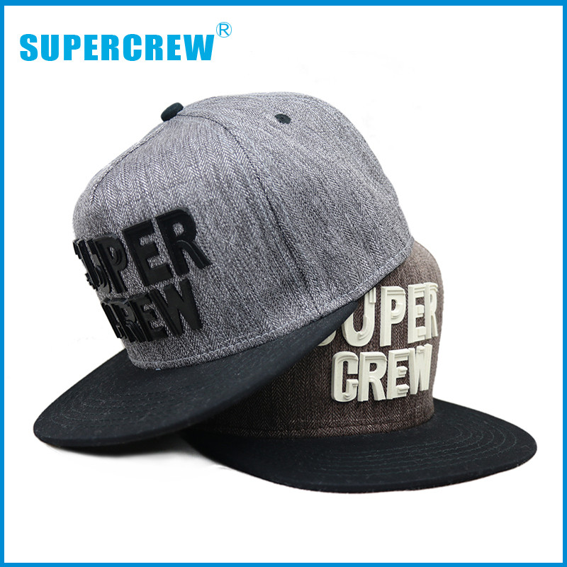 5 Panel Custom Flat Brim Cool Hats To Buy Online With Supercrew Plastic 3D Designs