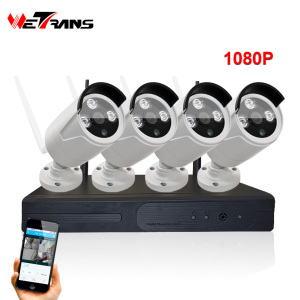 Hot Selling 1080P Outdoor Wireless IP Camera Free Client Multistar H.264 Network DVR H.264 NVR Kits