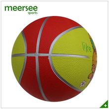 7 inches kids playing animal printed natural rubber size 1 basketball