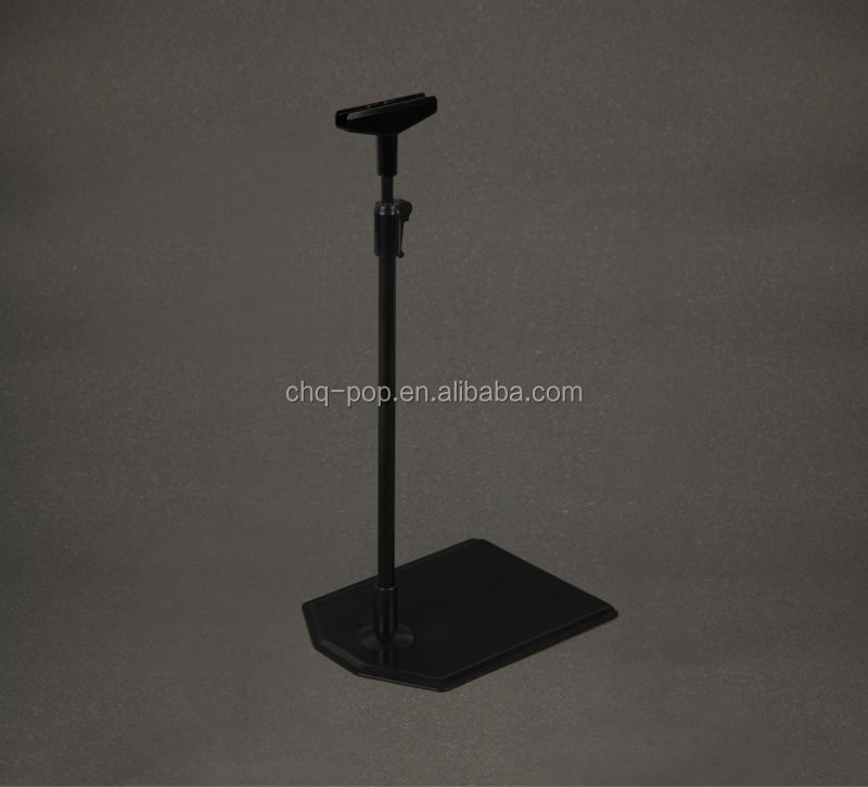 black display stand on the table