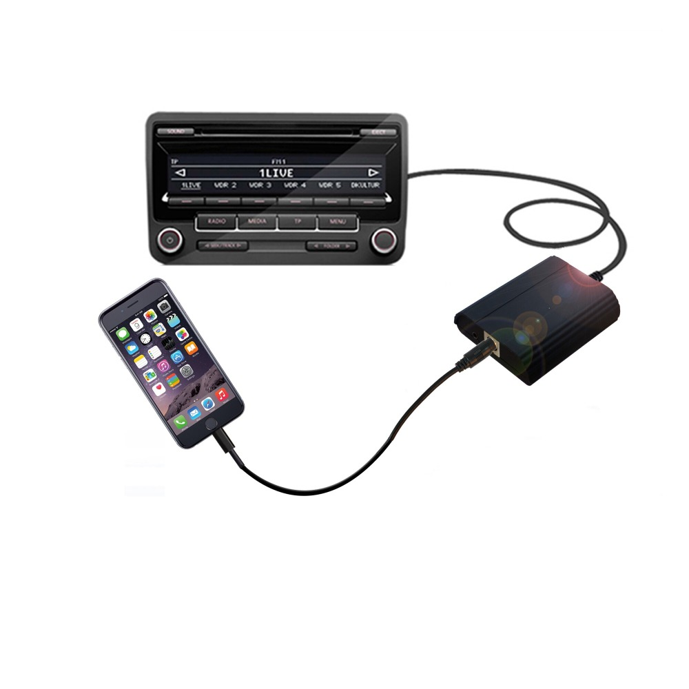 Apps2car For renault audio system digital music changer car aux interface for Apple device