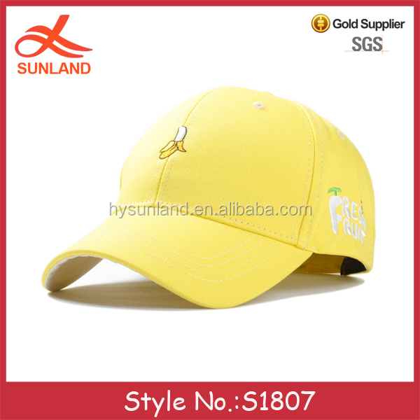 S1807 new summer fruit embroidered pattern designer cotton baseball caps uk for sale