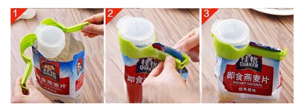 Promotionele Opslag Luchtdichte Sluiting Afdichting En Giet Plastic Brood Koffie Voedsel Zak Clip