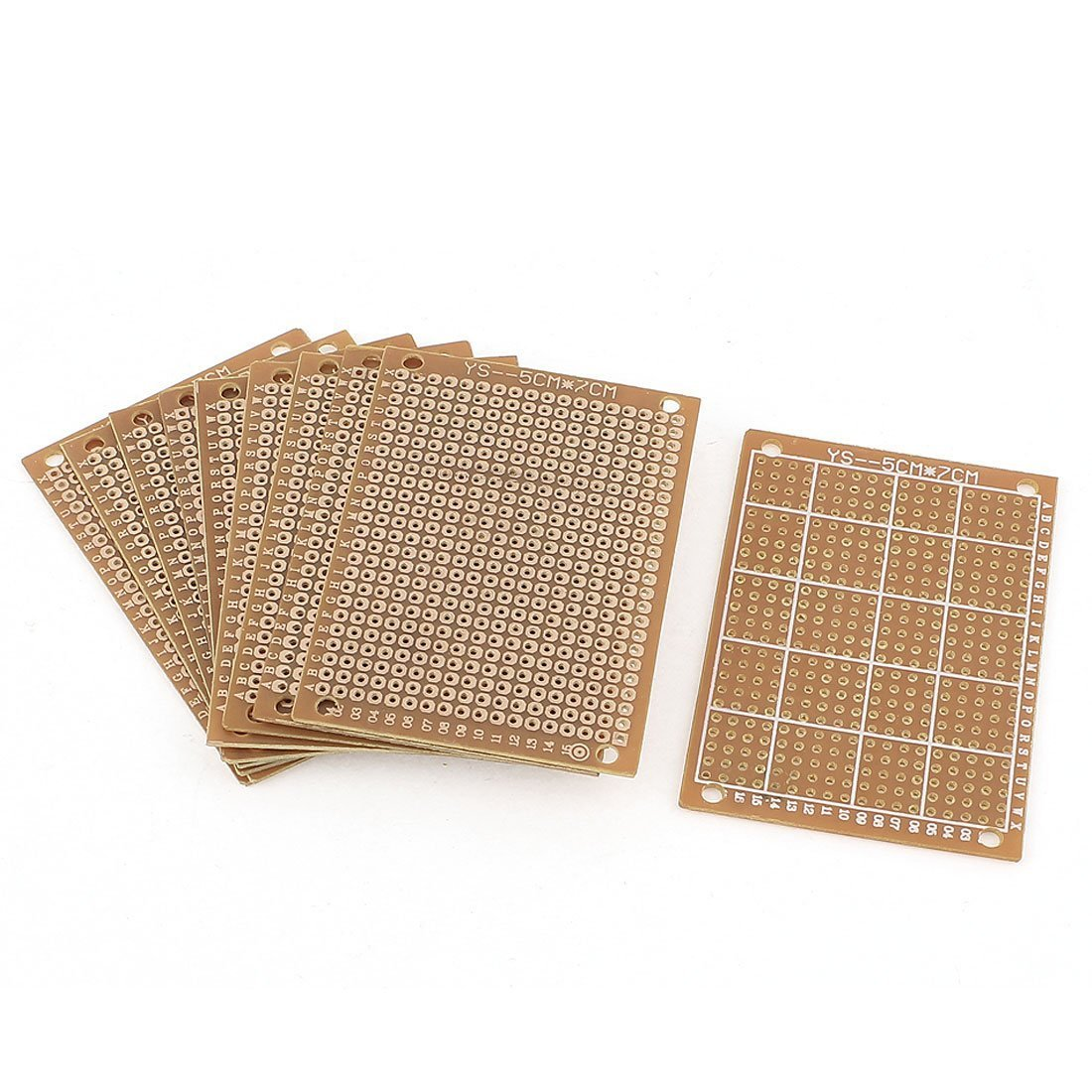 Uxcell a15050500ux0130 10 Piece Single-sided PCB Printed Circuit Board Prototype Breadboard 7cm x 5cm