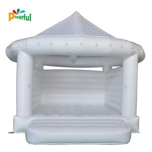 Inflatable White Bouncy Castle For wedding