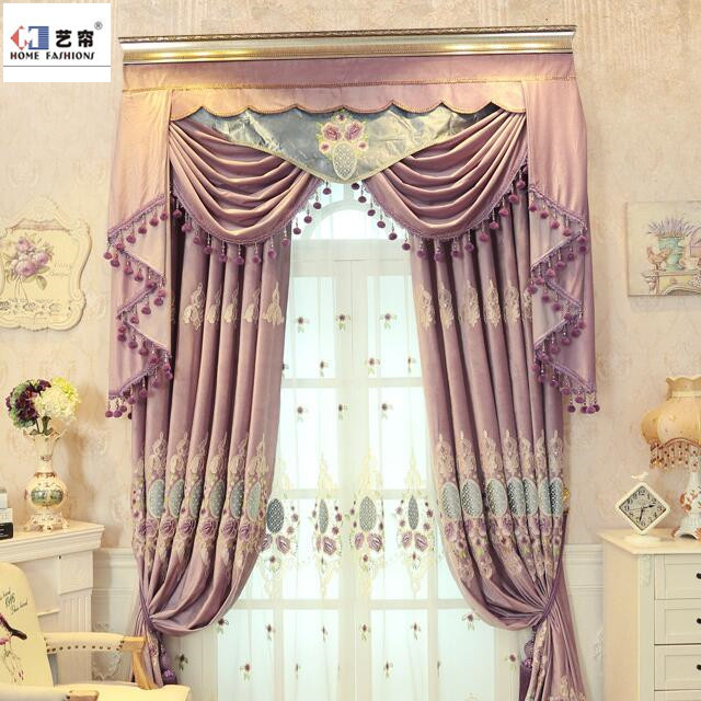 Top quality good price Arabic style Salon living room window luxury curtain