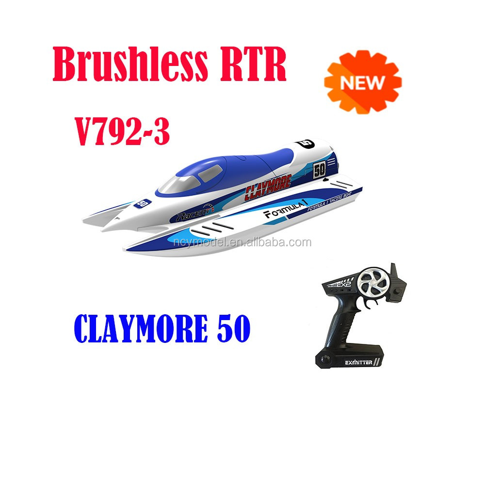 New Design 2.4G Radio Control Fast Electric Rc Boat V792-3 CLAYMORE 50