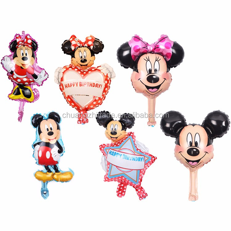 Babyshower gift toys for kids 2018 party supplies birthday advertisement balloon wholesale heart mickey mouse decoration balloon