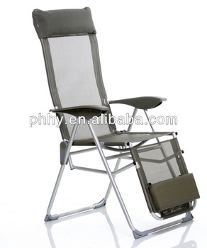 Superbe Ajustable Aluminum Lounge Folding Chair With Footrest Sun Lounger