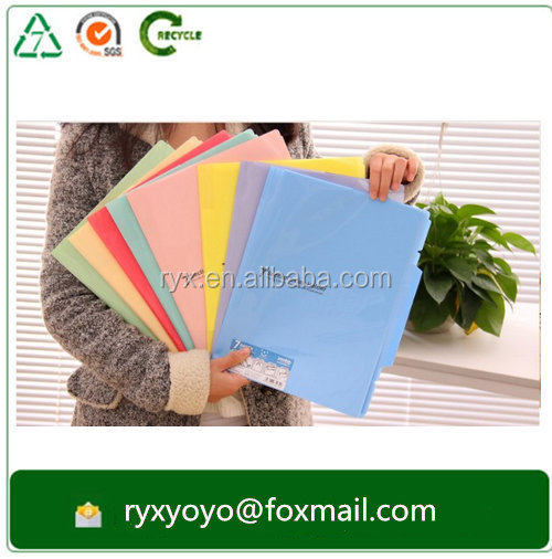 wholesale pp plastic a4 szie manila file folder with index divider