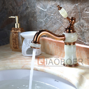 Beauty look marble and brass material bath furniture marble faucet