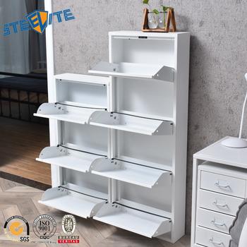 Schoenenrek Wit Metaal.Wit Metalen Schoen Opbergkast 4 Layer Staal Schoenenrek Buy Wit