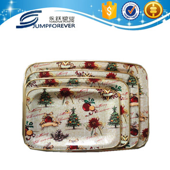 China houseware new design christmas decorate charger plate