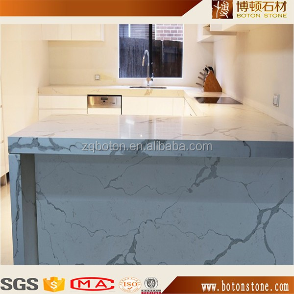 top quality calacatta white quartz stone for house decoration from BOTON