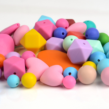 Wholesale FDA silicone bpa free loose beads for jewelry making