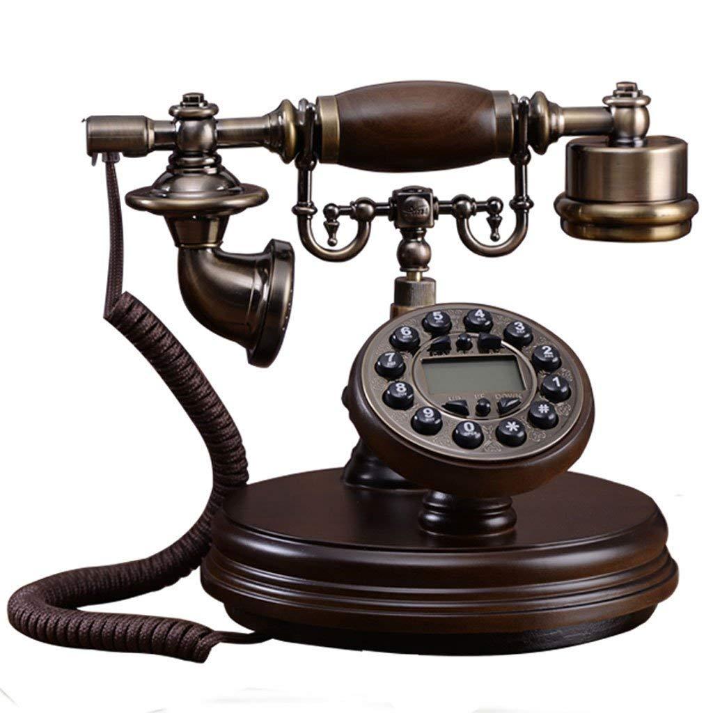 ZYC Solid Wood European Antique Landline Home Office Hotel Decoration Retro Telephone