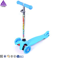 certificate approval hot sale children adjustable wholesale 3 wheel kids scooter