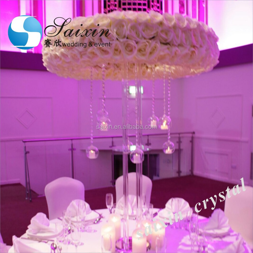 New ! high quality crystal centerpiece wedding table decoration supplies