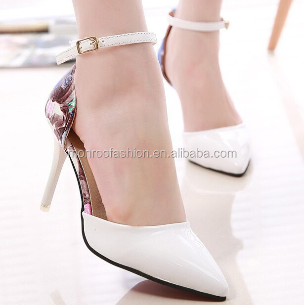Monroo new fashion strap shoes women pointy heels pointed heels shoes