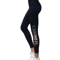 Hot sell women sport running yoga pants quick dry high elastic letters printed fitness tights womens