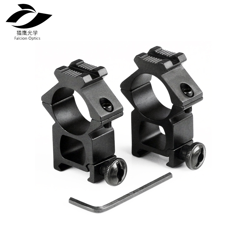 25.4mm 1 Inch Ring Tactical Hunting High Profile 20mm Weaver Picatinny Rail Mount Rifle TOP Rail Scope Mounts, Black