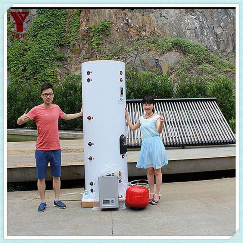 Split copper pipe coil solar heat pump water heater from VISION company