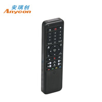 Best 2.4g compact tv box wireless ir air fly universal mouse smart remote control with keyboard for samsung/lg/android smart tv