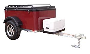 Hybrid Trailer Co. Vacationer with Cooler Tray - Enclosed Cargo Trailer, 990 lbs. Gross, 30 cu/ft. - Black Cherry