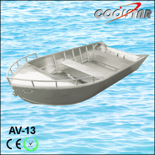13ft all-welded aluminium cheap boat for fishing and tourist