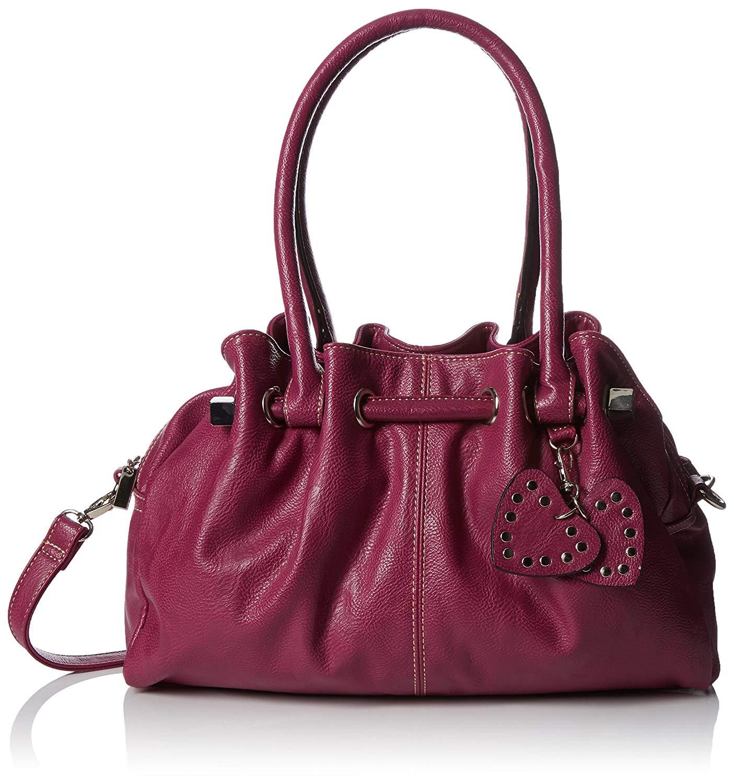 d6e7567c12 Big Handbag Shop Womens Multi Pocket Handbag Medium Size Top Handle with  Shoulder Strap in Vegan Leather