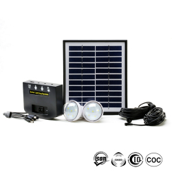 Portable Solar Generator Lighting Kits Solar Powered System Light Up 2 Rooms