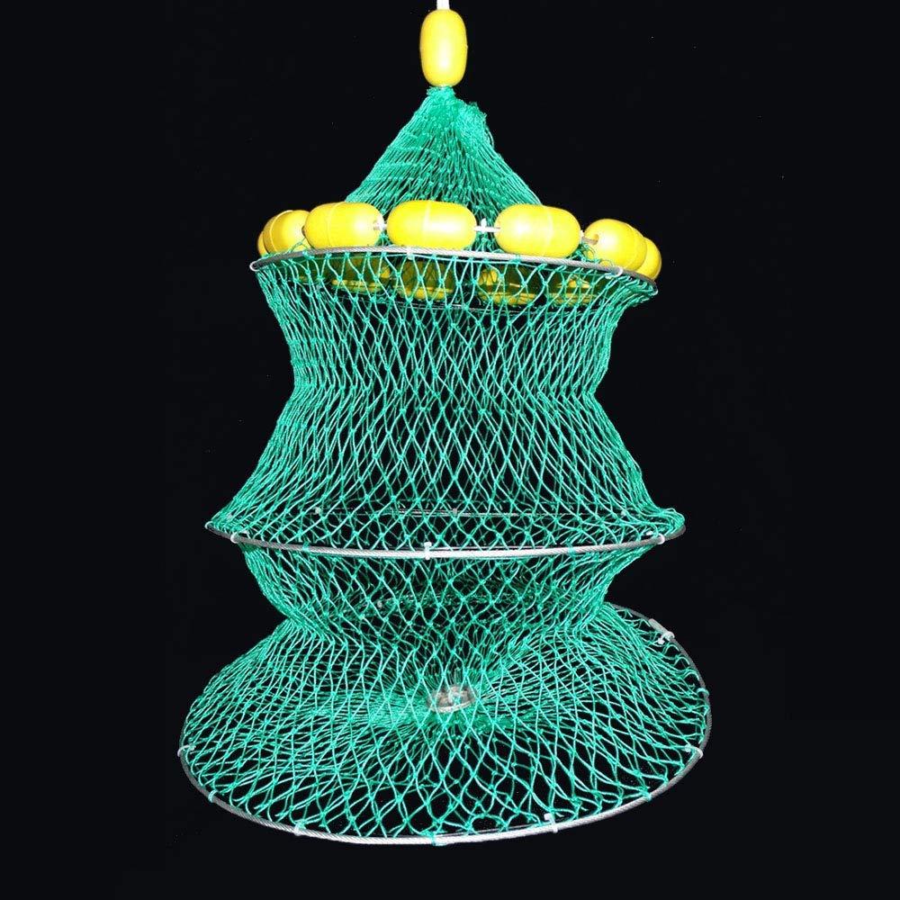 Mokylor Fishing Bait Net Trap, Cast Dip Cage, Portable Folded Fishing Net Mesh Trap Catching Small Bait Fish Eels Crab Lobster Minnows Shrimp Crawfish