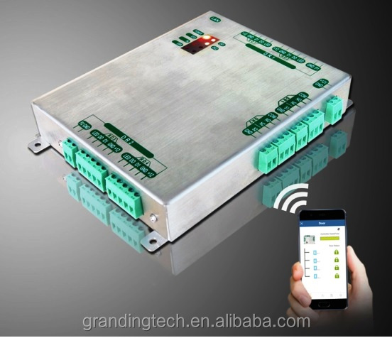 Metal housing global anti-passback function TCP/IP based four-door access control board access control system