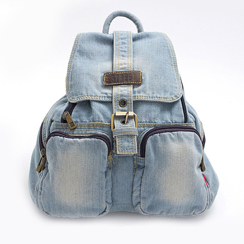 Get Quotations · Fashion New Women school backpacks canvas backpack denim  Backpack Girls Casual vintage school campus bags travel 28a508c6a15c2