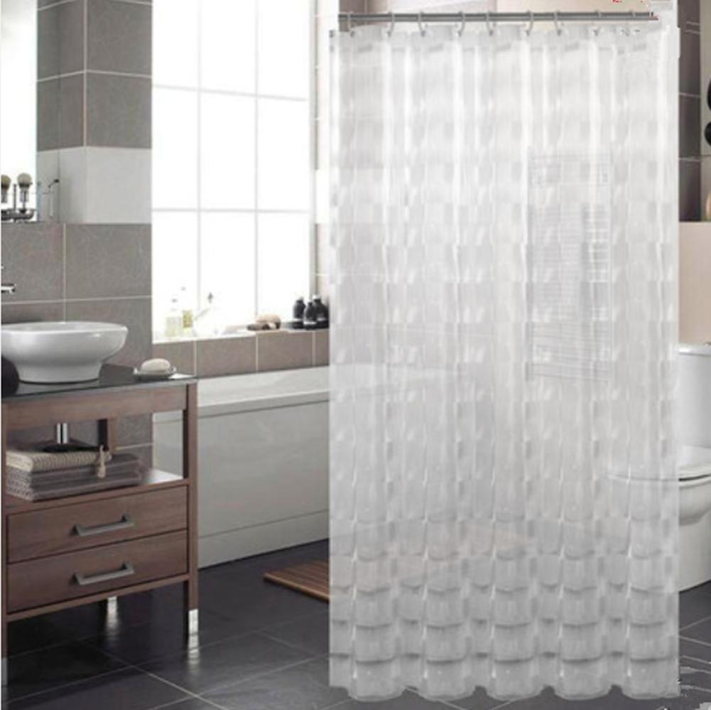 3D Effect Water Cube Mildew Proof Shower Curtain 72x72 Inch Heavy Duty 100 EVA Bathroom With Hooks