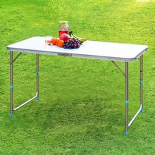 Tianye Lightweight Adjustable Aluminum Folding Camping Table with Parasol Hole, Lantern Pole and Extension Poles for outdoor