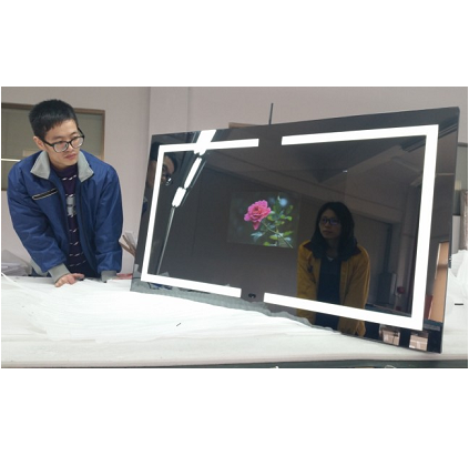 55 inch large advertising lcd screens touch screen smart mirror android bathroom magic mirror wifi waterproof mirror tv