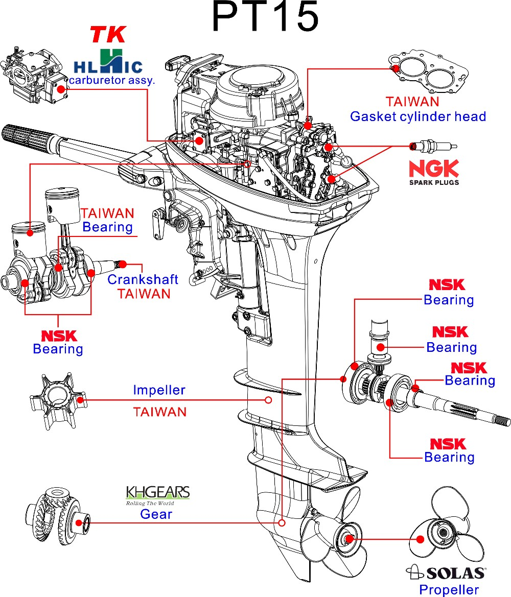 100cc 4 stroke and 2 stroke engine small chinese outboards motor