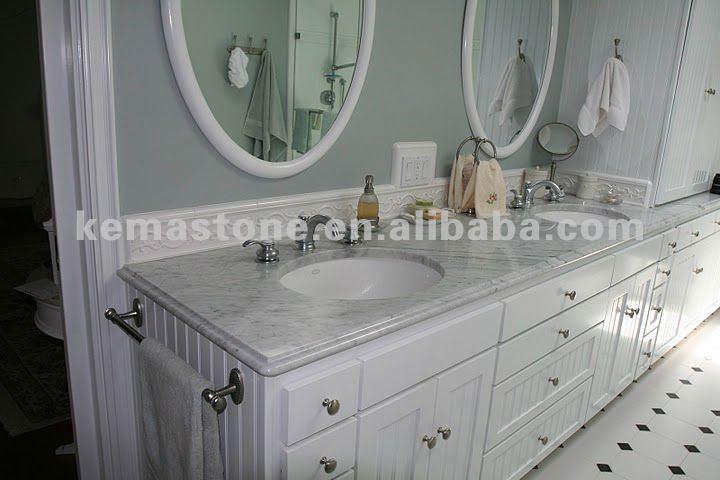 Carrera White Marble Bathroom Vanity