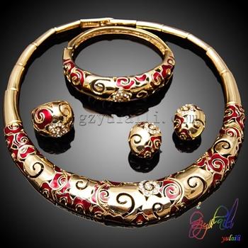 Qatar Plated Gold Jewelry Set Chinoiserie Jewelry Set Cheap