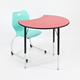 cheap plastic school desk and chair