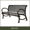 Arlau outdoor waterproof bench,square outdoor bench seat,new design leisure bench