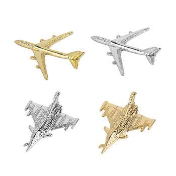 Gold silver Souvenir 3D military Air force Plane Shape helicopter Metal Lapel Pin