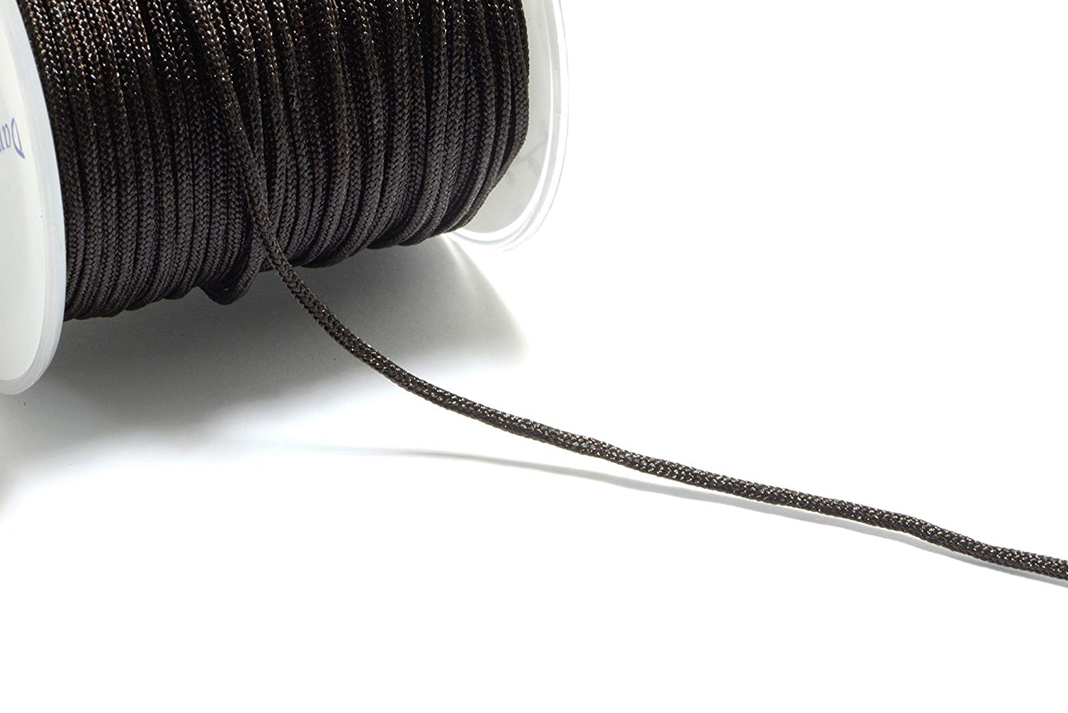 30m (98.4ft) (32.8 yards) 1.5mm Nylon Cords in Dark Brown, Chinese Knotting Cord, Spooled, Beading String for Beads #SD-S7755