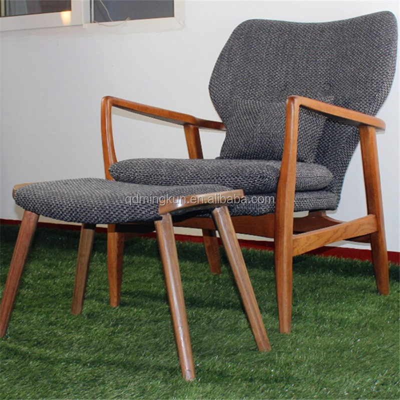 lasted long hot sale wooden frame armchair with fabric cushion - Wood Frame Armchair