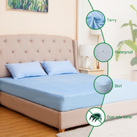 Anti Bed Bug Dust Mite Bamboo Fabric Waterproof Mattress Covers Pad