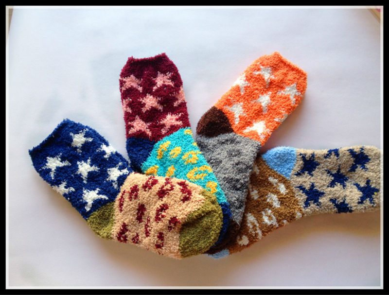 Beautiful warm and thick ladies fluffy socks