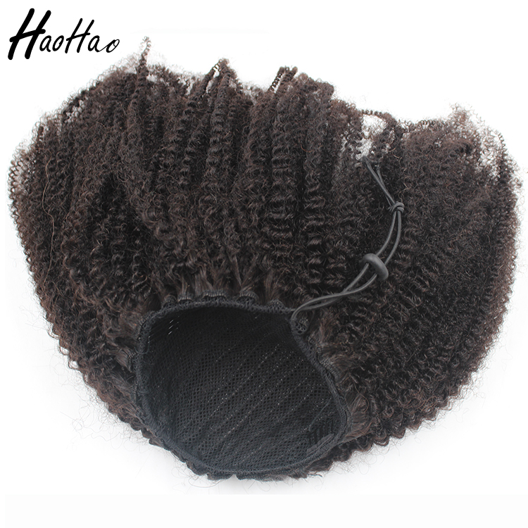 Best selling products afro kinky real human hair top quality afro kinky hair ponytail