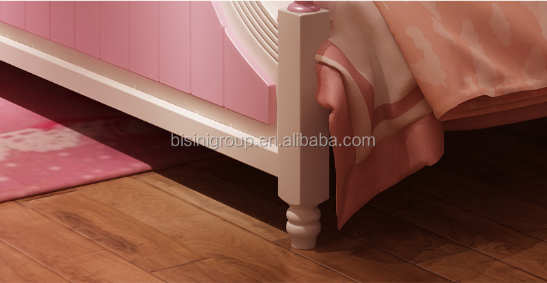 Bisini American Style Wooden Princess Pastoralism Bed
