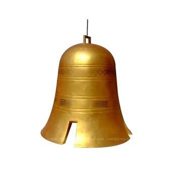 Temple garden ornaments products metal art brass bell